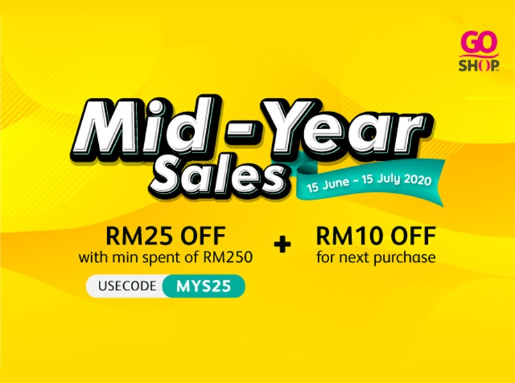 Go Shop's Mid-Year Sales offer up to 60% off! Products below RM19