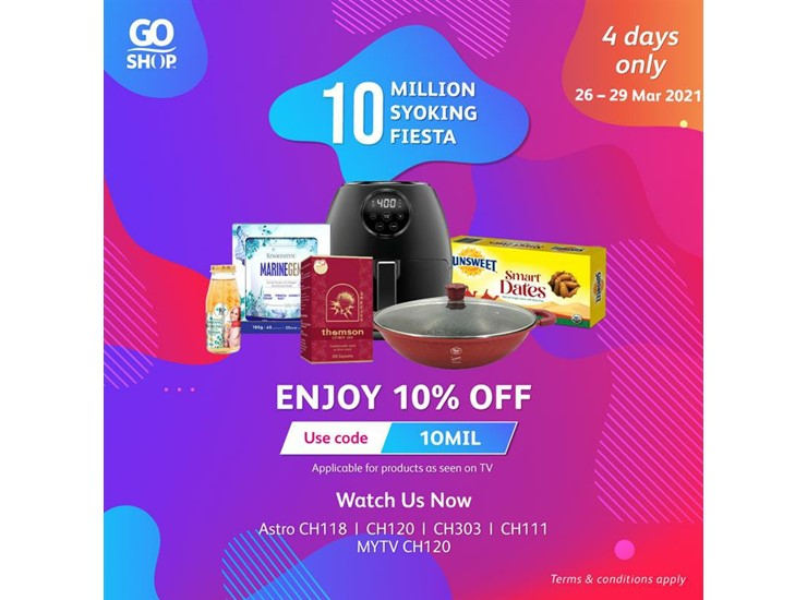 Go Shop celebrates 10 million products sold with amazing deals and celebrity shows