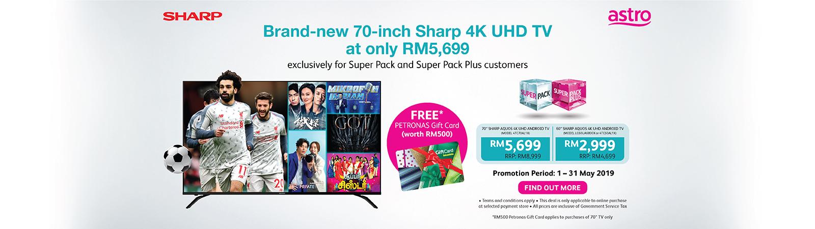 Astro-SHARP 4K UHD TV Deal