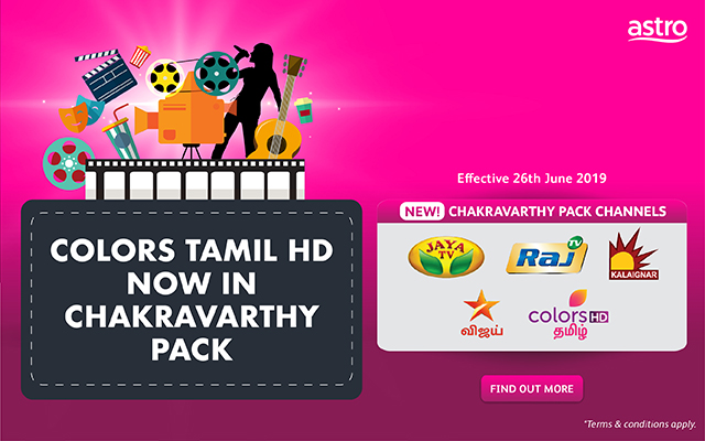 Colors Tamil HD now in Chakravarthy Pack effective 26th June 2019