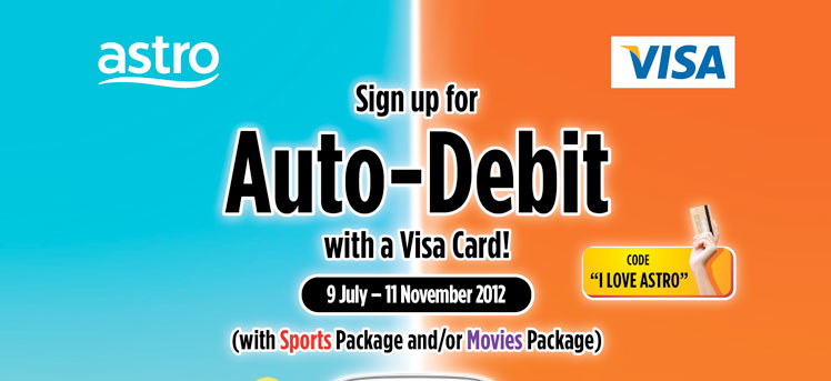 RM10 rebate and a chance to win Samsung Galaxy SIII with Visa Card Auto-Debit