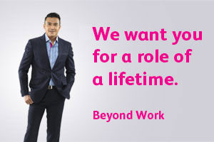 We want you for a role of a lifetime