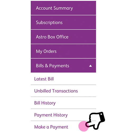 Bill Payment | Features | Astro Self Service