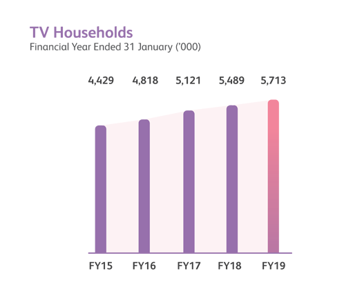 TV Households financial year performance chart