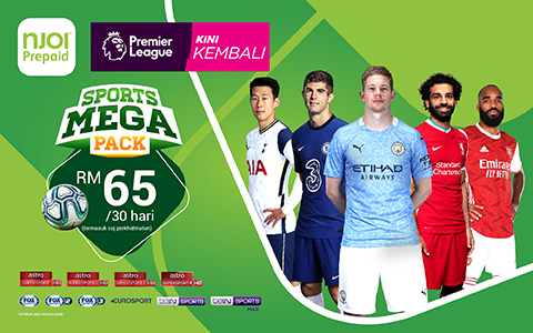 Get the Sports Mega Pack and don't miss out on the Premier League and other sports