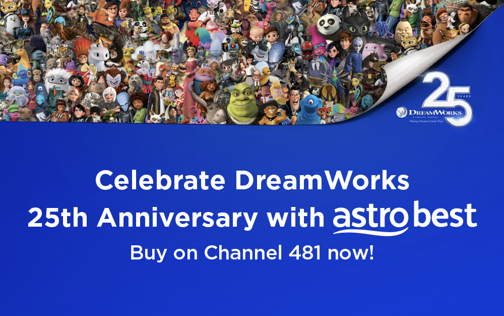 Watch Dreamworks movies straight from your TV screen!